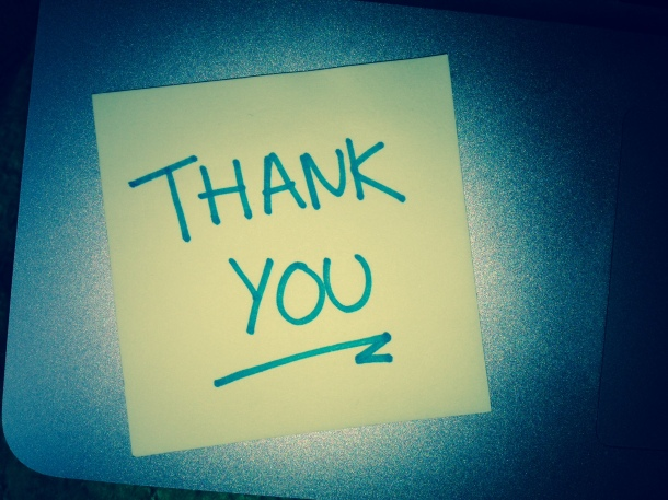 Thank You Post It Note